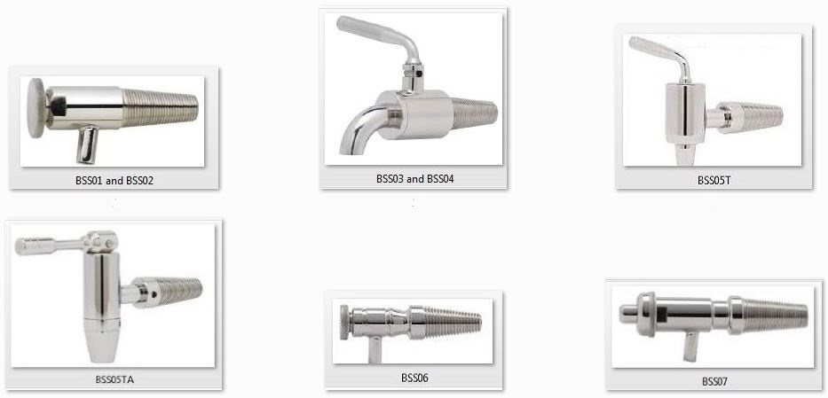 Sales of Tapered Stainless Steel Spigots for Wooden Wine Barrels